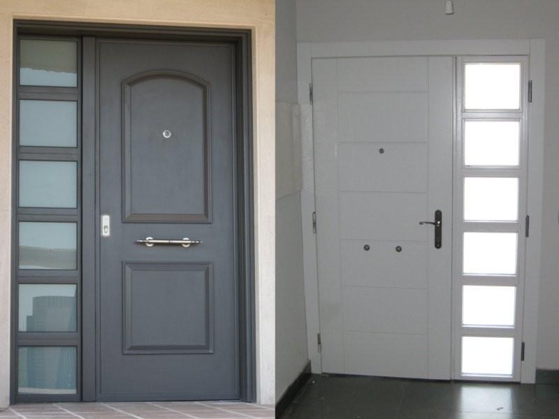 Fabricacion y venta de puertas de calle cocheras naves for Puertas de calle aluminio precios