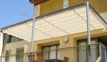 Toldos para patios materiales de construcci n para la - Toldos para porches ...